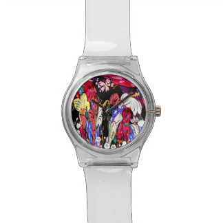 May 28th abstract floral watch. watch