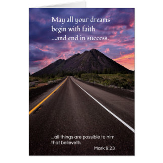 May all your dreams...Religious Greeting Card