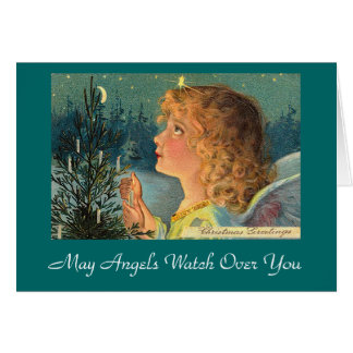 May Angels Watch Over You Greeting Card