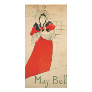 May Belfort by Henri de Toulouse-Lautrec Customised Photo Card