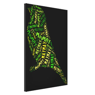 May Bird Stretched Canvas Prints