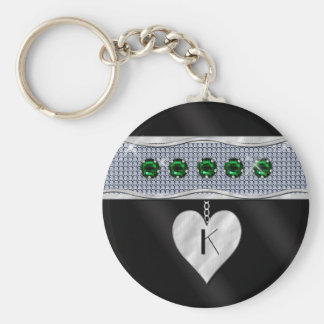May Birthday Charm Basic Round Button Key Ring