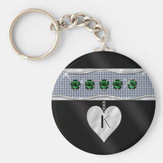 May Birthday Charm Key Ring