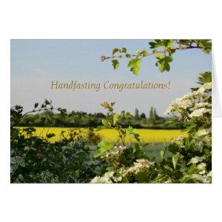May Blossom Beltane Handfasting Congratulations Greeting Card