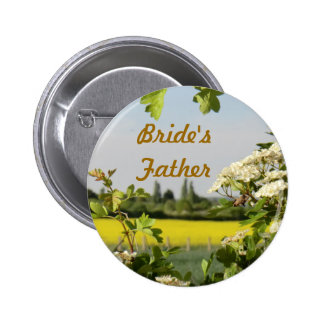 May Blossom Handfasting Bride's Father Badge