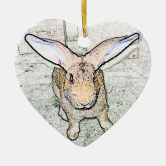 May Bunny Christmas Ornament