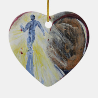 May Christ Dwell In Your Heart Ceramic Heart Decoration