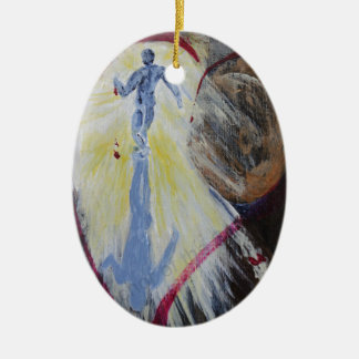 May Christ Dwell In Your Heart Ceramic Oval Decoration
