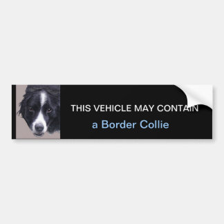 may contain a Border Collie Bumper Sticker