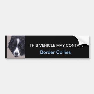 may contain Border Collies Bumper Sticker