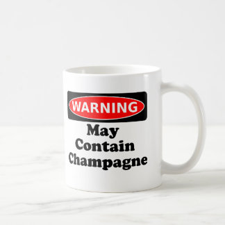 May Contain Champagne Coffee Mugs