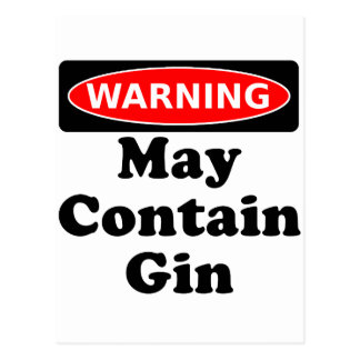 May Contain Gin Postcard