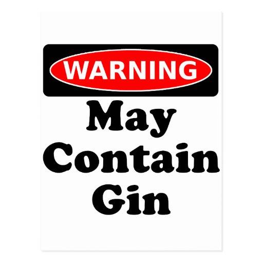 May Contain Gin Postcard