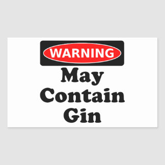 May Contain Gin Rectangular Sticker