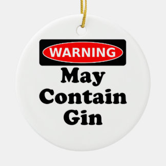 May Contain Gin Round Ceramic Decoration