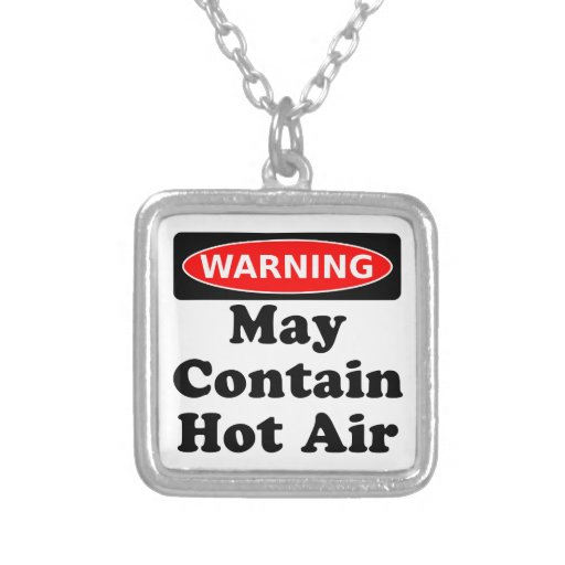 May Contain Hot Air Personalized Necklace