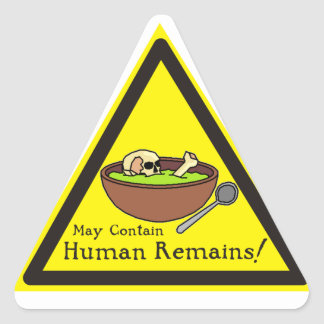 May Contain Human Remains Stickers