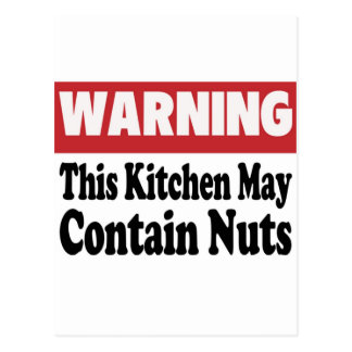 May Contain Nuts Postcard