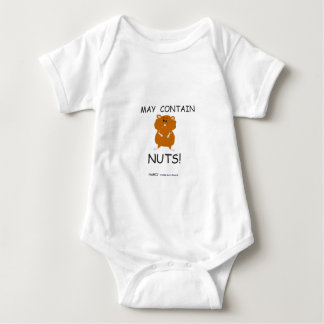 May Contain Nuts Syrian Hamster Baby Bodysuit