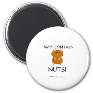 May Contain Nuts Syrian Hamster Magnet