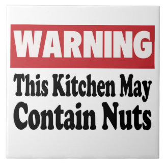 May Contain Nuts Tile
