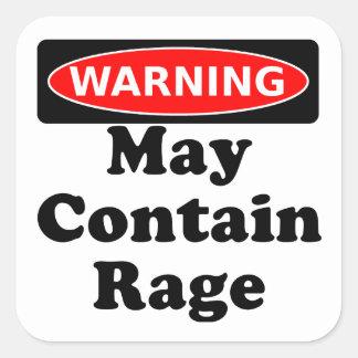 May Contain Rage Square Sticker