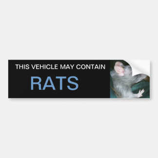 may contain rats bumper sticker