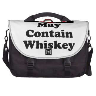 May Contain Whiskey Laptop Computer Bag