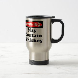 May Contain Whiskey Travel Mug