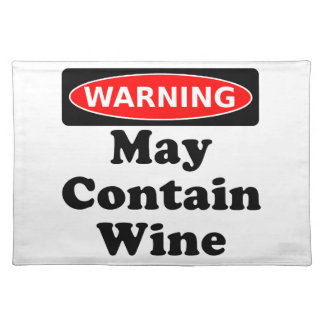 May Contain Wine Placemat