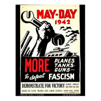 May - Day 1942 More To Defeat Postcard