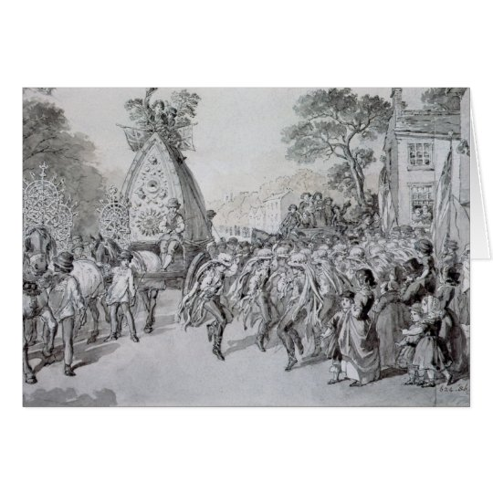May Day at Bowdon, Cheshire Card