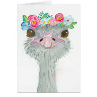 May Day Ostrich Note Card