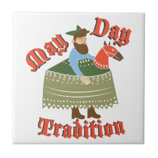 May Day Tradition Small Square Tile