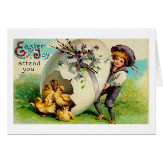 May Easter Joy Attend You Vintage Easter Card