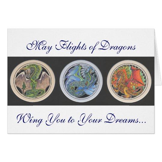 """""""May Flights of Dragons..."""" Card"""