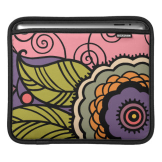 MAY FLOWER - LOVELY ART DECO FLORAL iPad SLEEVE
