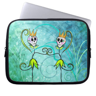 May Flowers Sugar Skull Laptop Sleeve