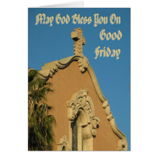 May God Bless You On Good Friday Greeting Card