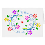 May God Bless You with Flowers, Happy Mother's Day Note Card