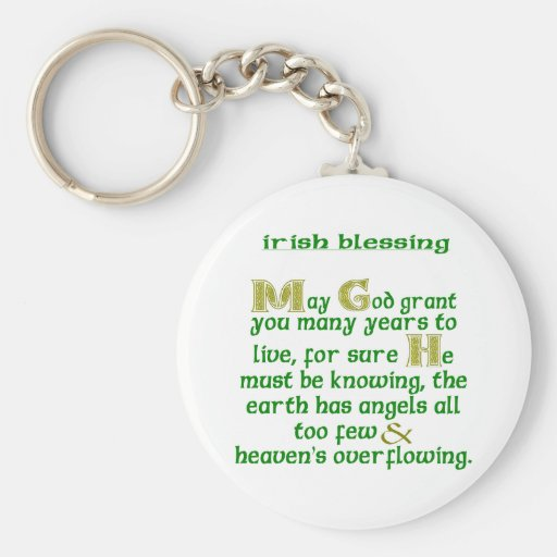 May God Grant You Many Years Basic Round Button Key Ring