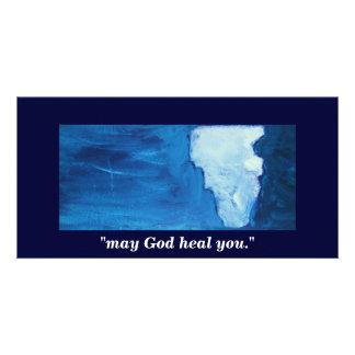 may God heal you Customized Photo Card