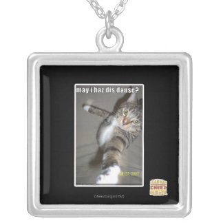 may I haz dis dance? Silver Plated Necklace