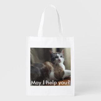 May I Help You Reusable Grocery Tote