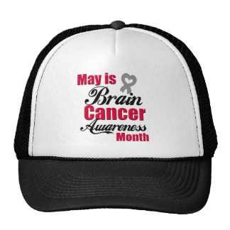 May is Brain Cancer Awareness Month Ribbon Mesh Hats