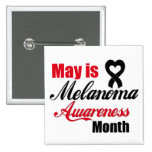 May is Melanoma Awareness Month Ribbon Button