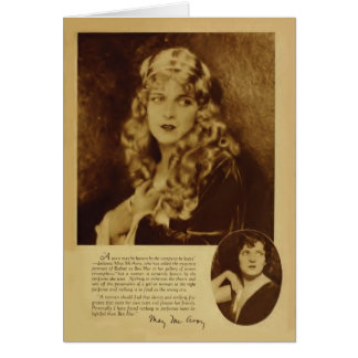May McAvoy 1926 vintage portrait card