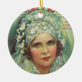 May McAvoy Silent Movie Magazine Round Ceramic Decoration