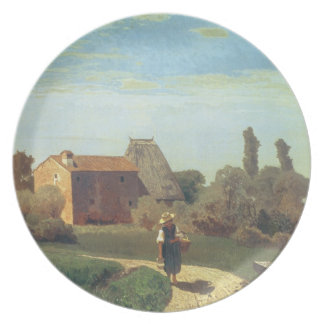 May Morning (oil on canvas) Plate
