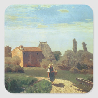 May Morning (oil on canvas) Square Sticker